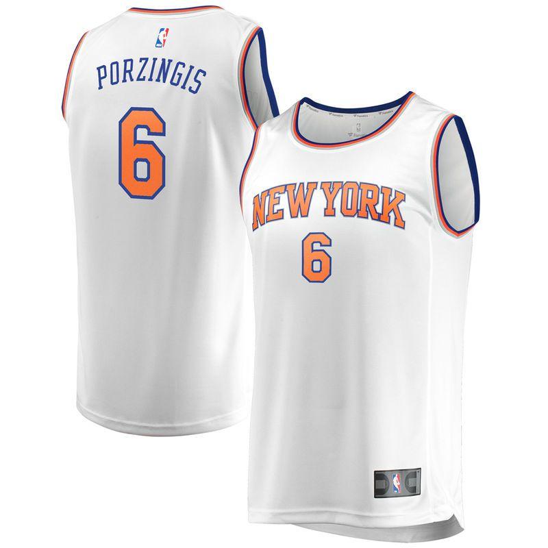 b31d1be56 Kristaps Porzingis New York Knicks Fanatics Branded Youth Fast Break  Replica Jersey White - Association Edition
