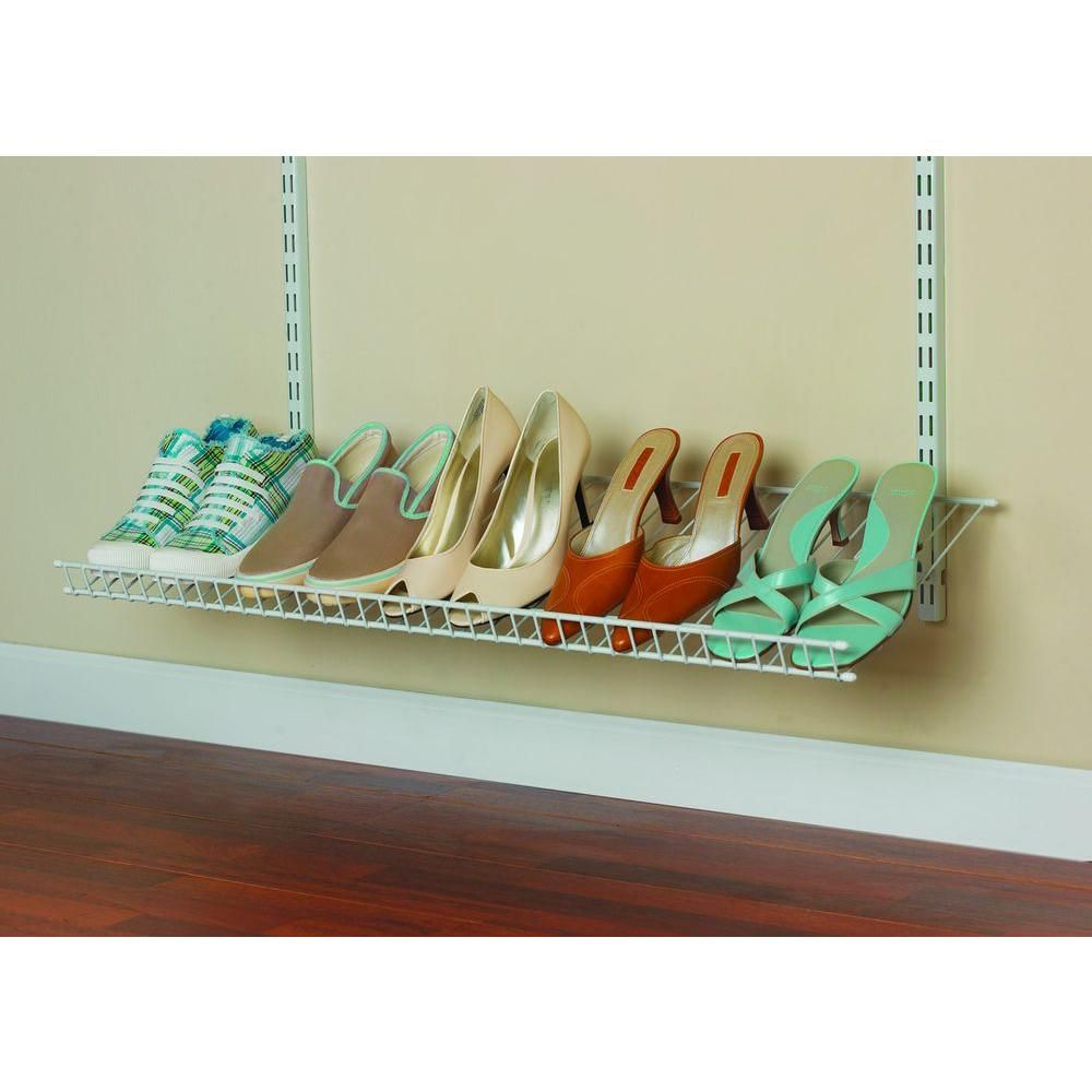 High Quality ClosetMaid ShelfTrack 5 Pair Ventilated Wire Shoe Shelf Kit 2846 At The  Home Depot