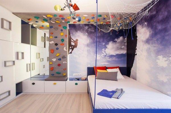 Rocódromo en habitación infantil Little oneS Pinterest