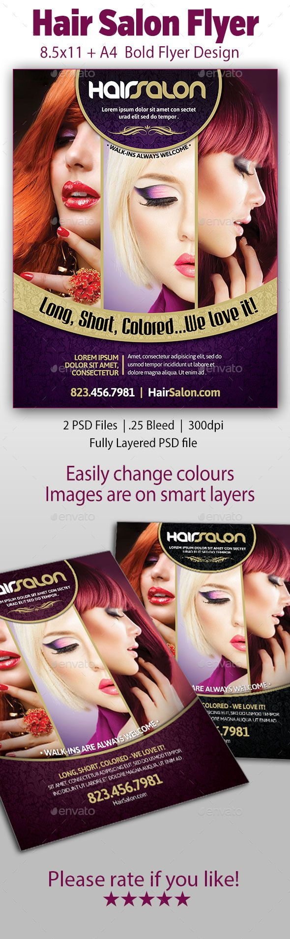 Hair Salon Flyer Bold Flyer Design Is Great For Not Only Hair Salons