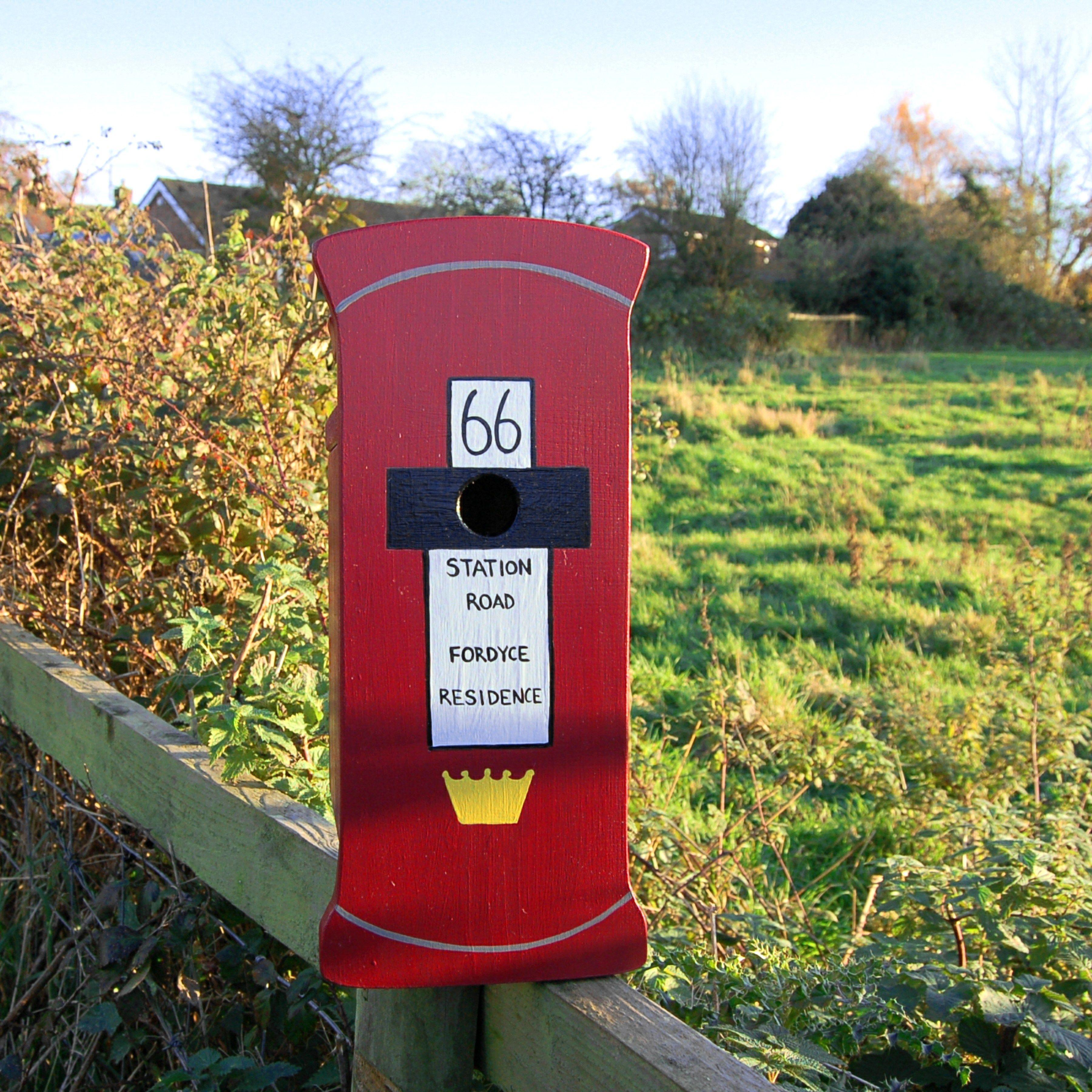 Lindleywood - Personalised Post Box Bird Box