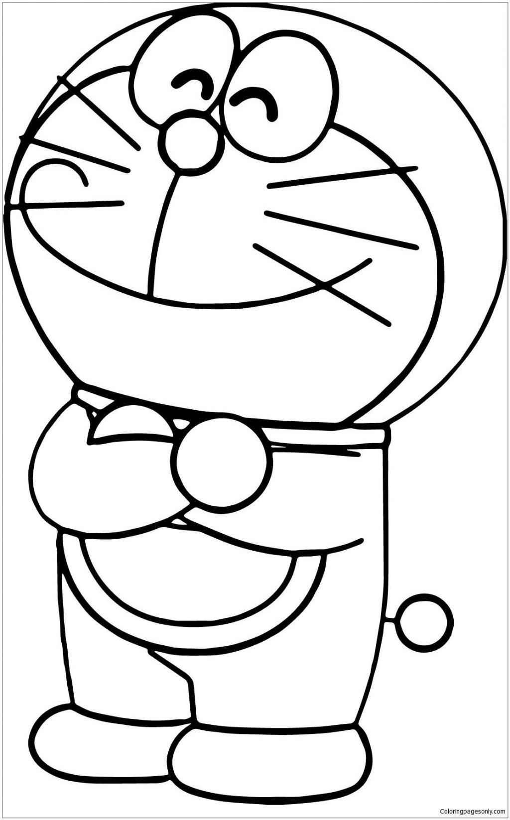 Doraemon Coloring Pages Easy Coloringpages