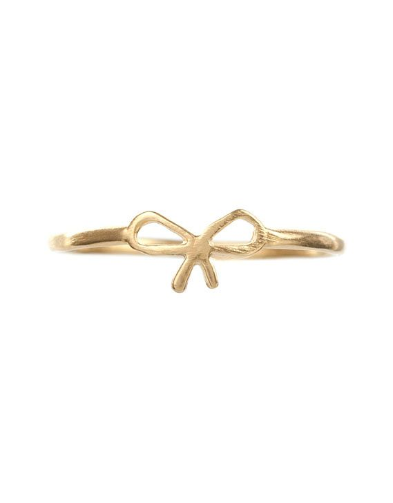 Charmed Small Bow Ring by Dogeared line