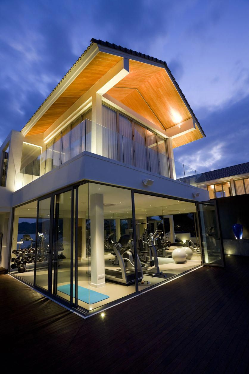 Luxurious Home Gym At The Lower Floor Of The House