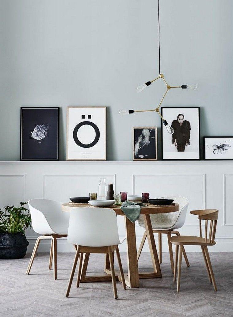 Salle à manger scandinave  symphonie de couleurs, textures et