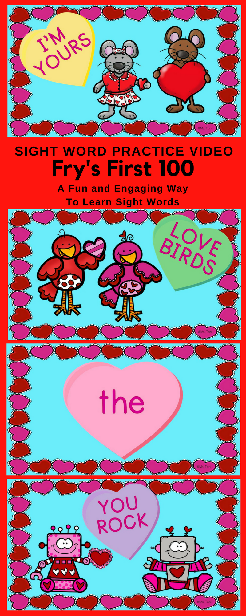 Sight Word Video & Slideshow, Fry\'s First 100, Valentines ...
