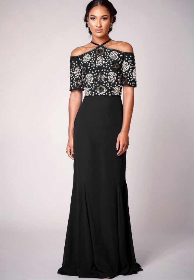 b191a7192919a6 Virgos Lounge Cold Shoulder Embellished Occasion Maxi Wedding Party Dress 6  - 18 #VirgosLounge #MaxiDress #SpecialOccasion