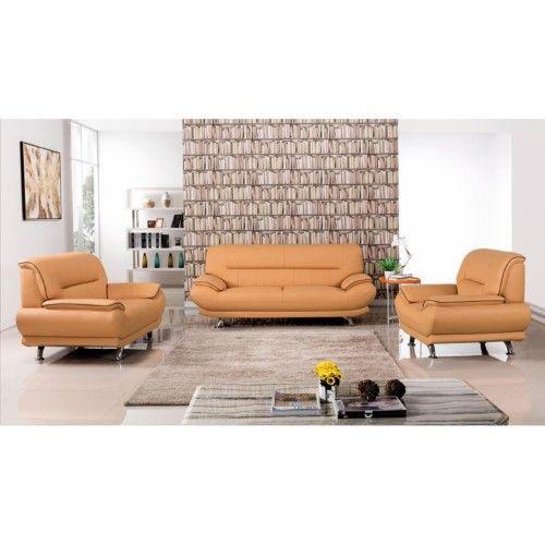American Eagle Furniture Arcadia: American Eagle Furniture Arcadia 3 Piece Sofa Set, Yellow