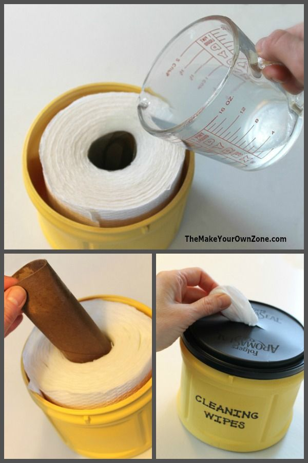Homemade Disposable Cleaning Wipes