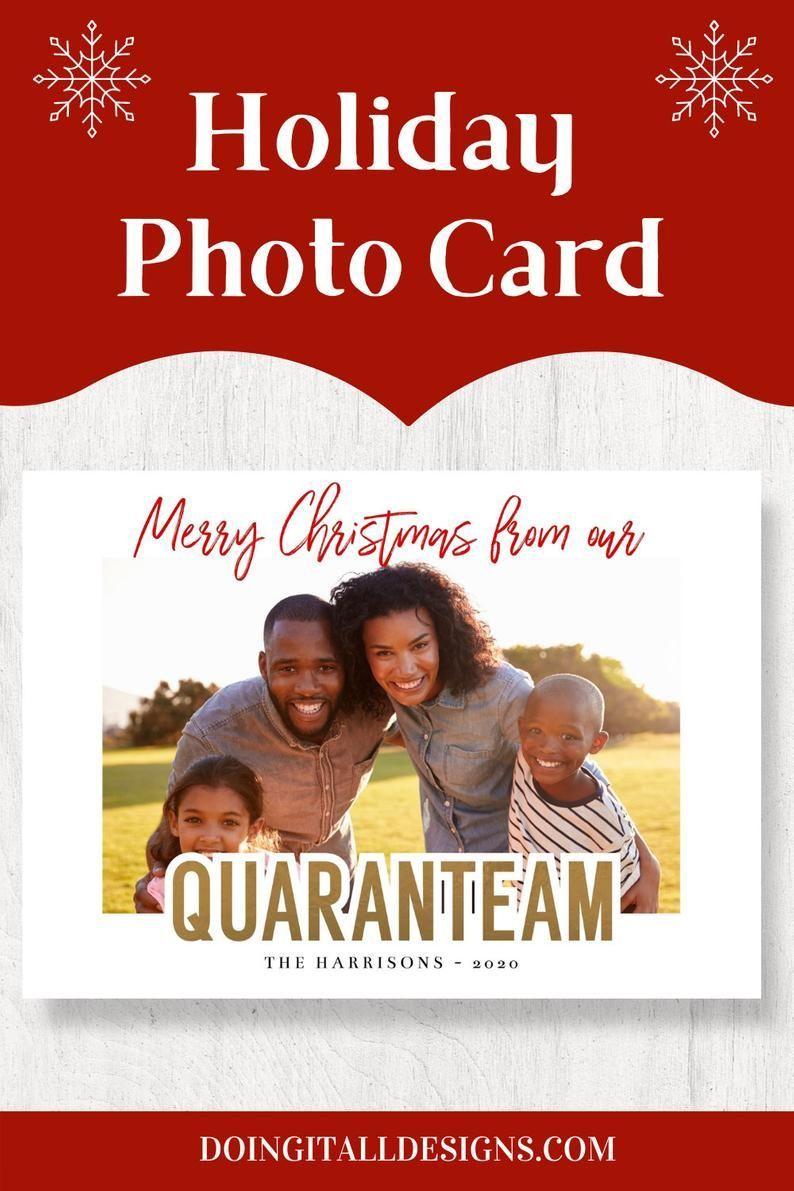 Photo Christmas Card 2020 Printable Christmas Card Template Etsy Christmas Card Template Christmas Photo Cards Holiday Photo Cards