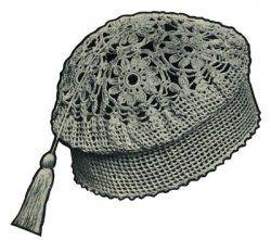 Crochet cap pattern from April 1927 Needlecraft magazine