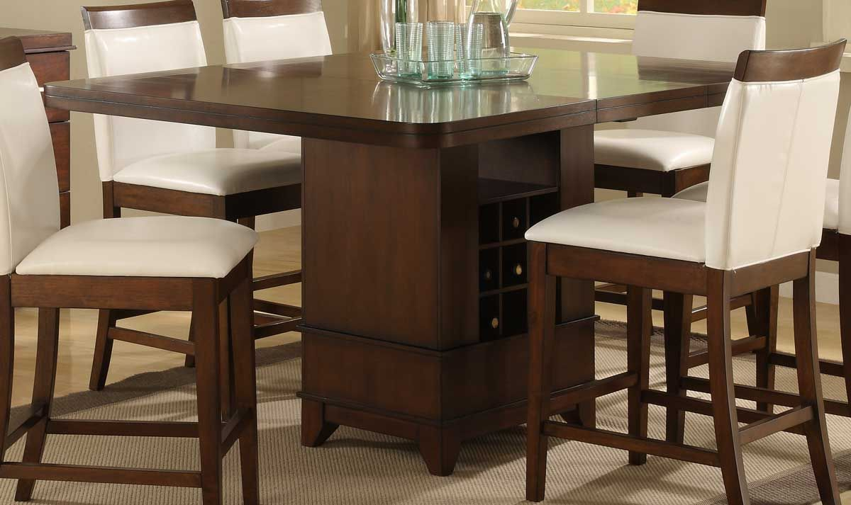 Homelegance Elmhurst Counter Height Table with Wine Storage | MoH ...