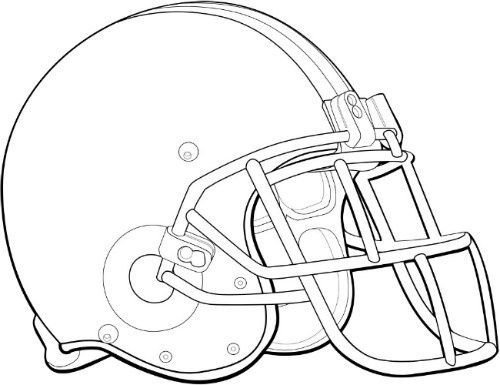 football helmet coloring page 01 - Football Coloring Page