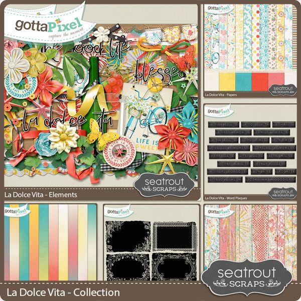 La Dolce Vita Bundled Collection :: Gotta Grab It :: Gotta Pixel Digital Scrapbook Store by Seatrout Scraps