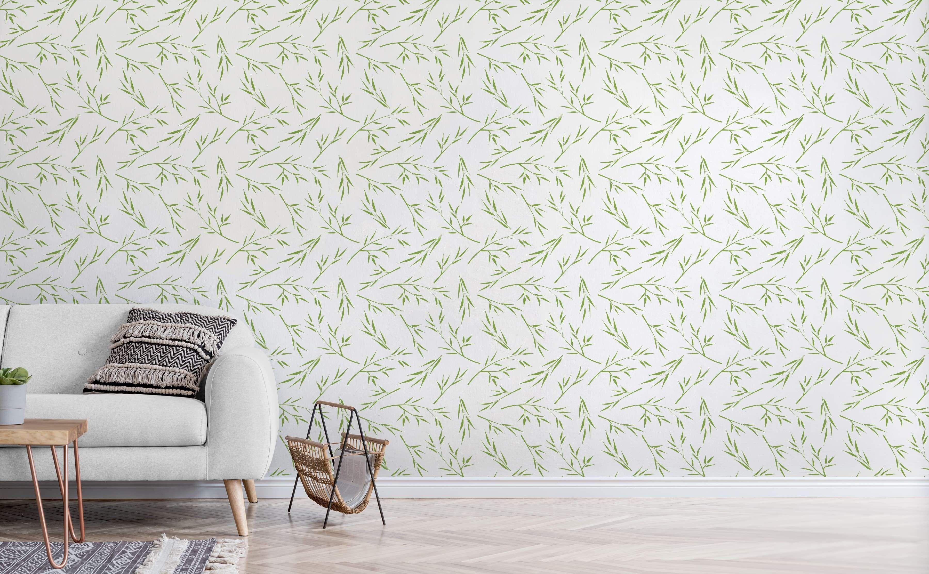Tranquility Garden Zen Wallpaper Green Wallpaper Banana Leaf Wallpaper