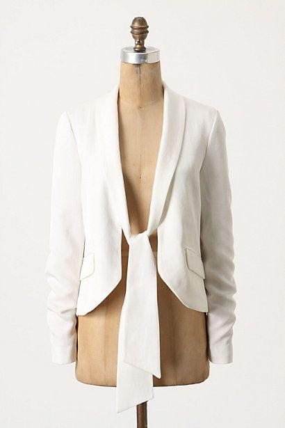 White (self tie) Blazer.