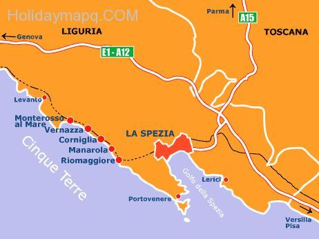 Awesome Map Of Italy La Spezia Holidaymapq In 2019