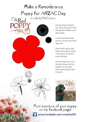 Fifi Verses The World Remembrance Poppy Template Craft Ideas