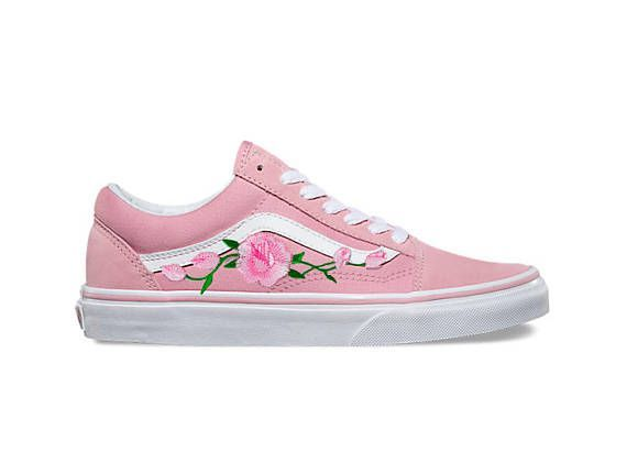 I Have Other Colors Check My Shop Pink Vans Old Skool Custom Shoes Rose Sneakers For Women