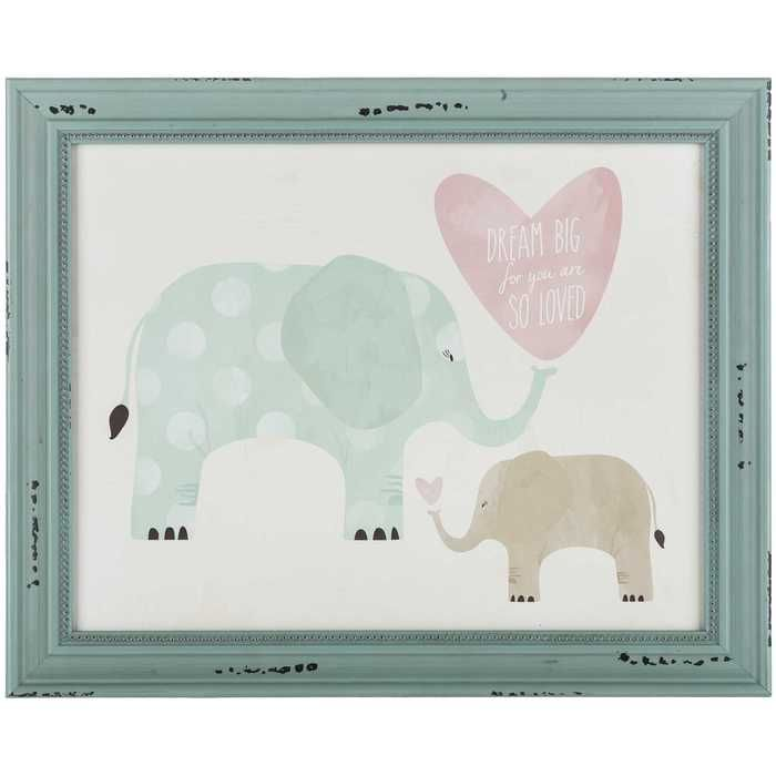 Baby Elephant Wood Framed Wall Decor Frame Wall Decor Frames On Wall Wood Frame Sign