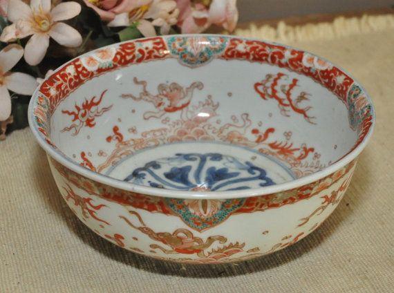 Antique Japanese Bowl - Meiji Period - Japanese Decor - Japanese Porcelain - Home Decor