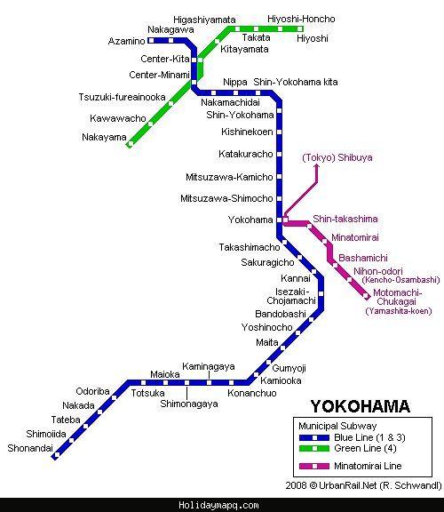 Yokohama Subway Map.Awesome Tokyo Yokohama Subway Map Subway Map Metro Map Tokyo