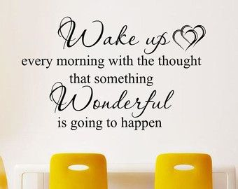 Wake up every morning , decal ,quote wall art home decor removable diy stickers sign words sticky letters Wall Decals & Murals