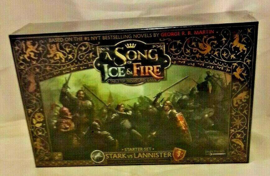Song Of Ice Fire Starter Set Stark Vs Lannister Cmon Miniature