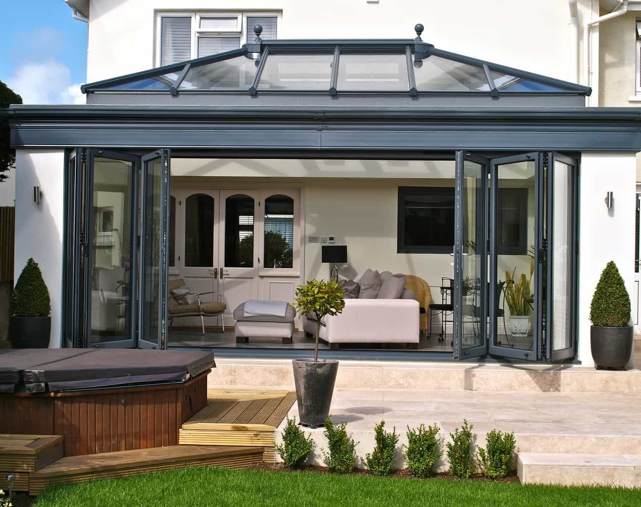 First of all, bifold doors are the ideal way to open up