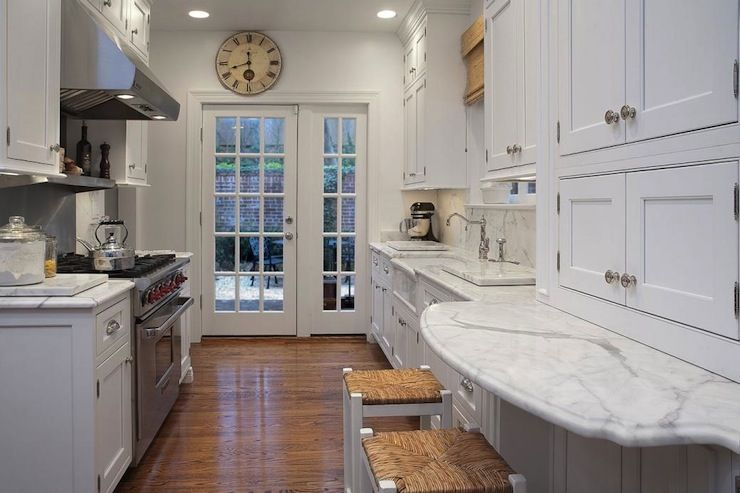 Galley Kitchen Small Yet Filled With Great Materialsappliances Glamorous Best Galley Kitchen Design 2018
