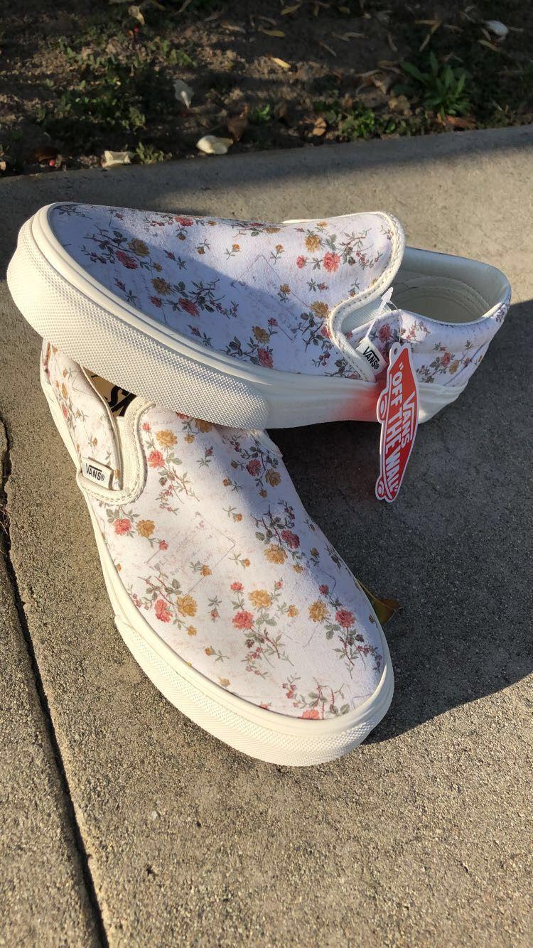 vans #Floral(Vintage) #slipon Blomster varebiler, Vans, Trendy sko  Floral vans, Vans, Trendy shoes