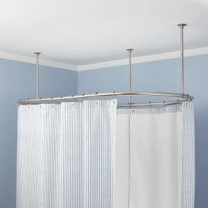 Clawfoot Tub Shower Curtain Rod Ceiling Mount