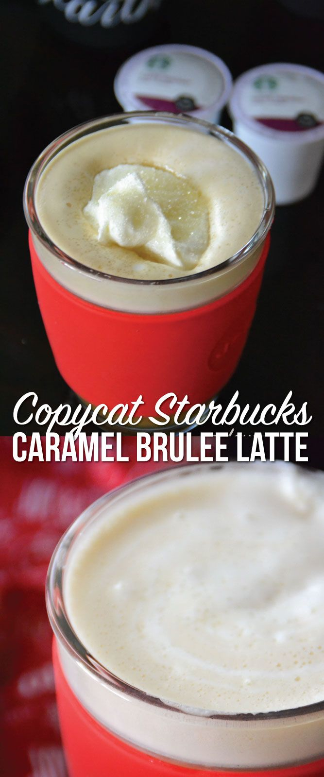 Copycat Starbucks Caramel Brulee Latte recipe. This is totally on my to do list for this weekend!