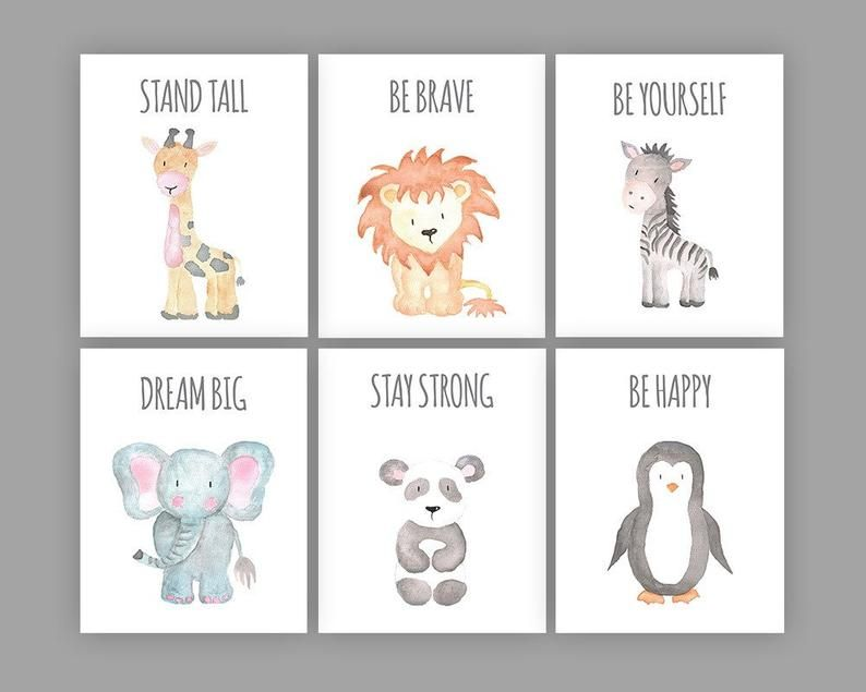Lion Hello Friend Cute Animal Nursery Bedroom Wall Decor Art Poster Print
