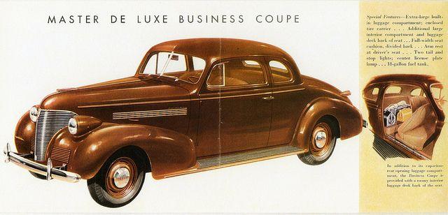 1939 Chevrolet Master De Luxe Business Coupe Chevrolet Antique Cars Vintage Ads