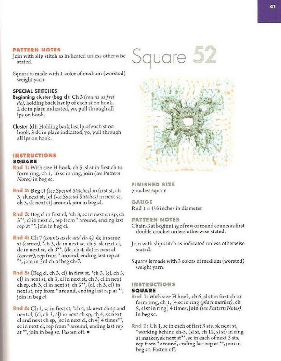 101 granny squares   Granny SQ Blocks   Crochet squares, Crochet