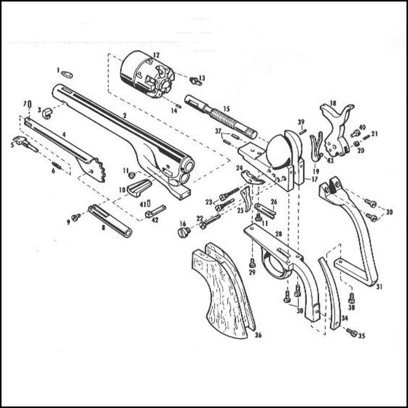 Pietta 1860 Army Revolver 1861 Navy Revolver Parts