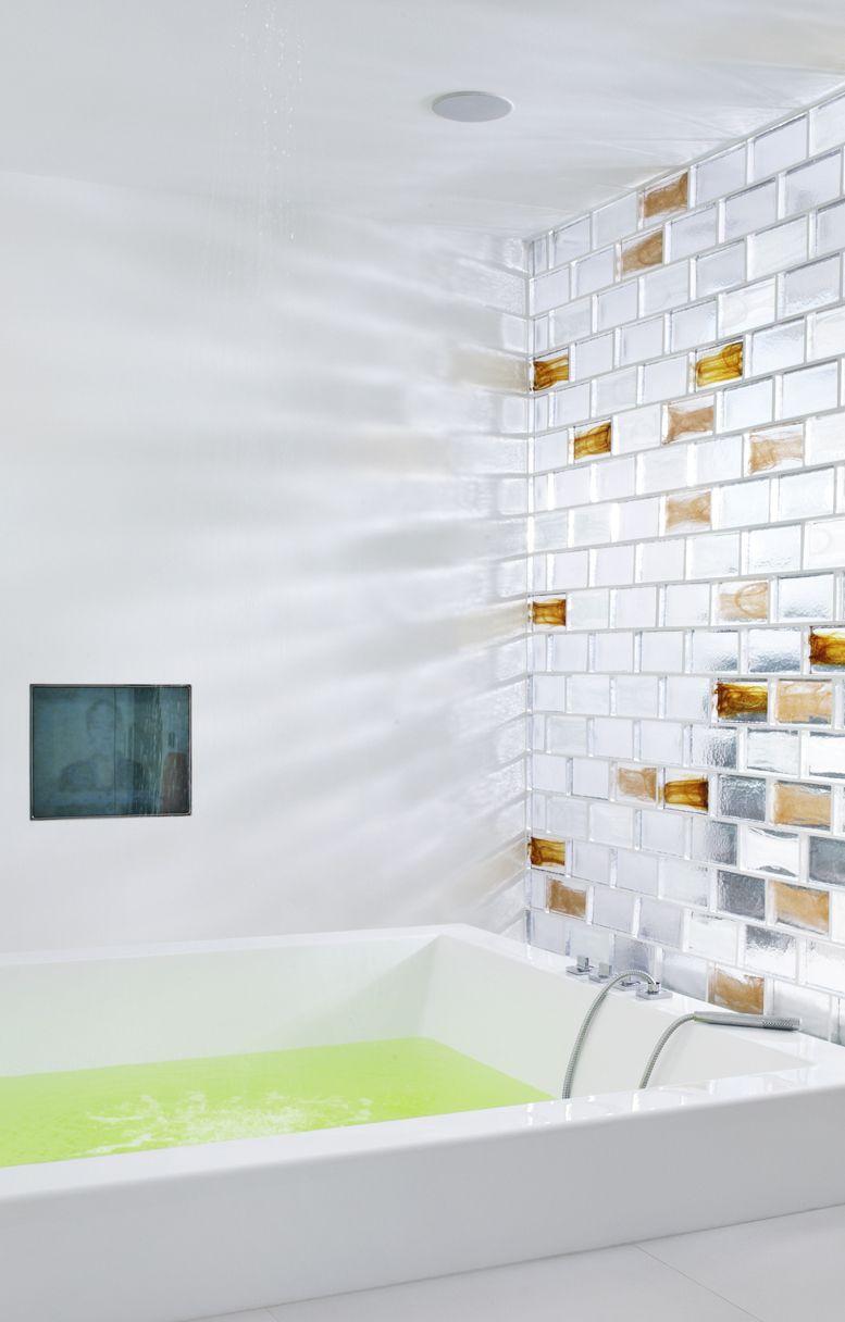 Poesia Brique De Verre poesia glass bricks combine light, colour and shape