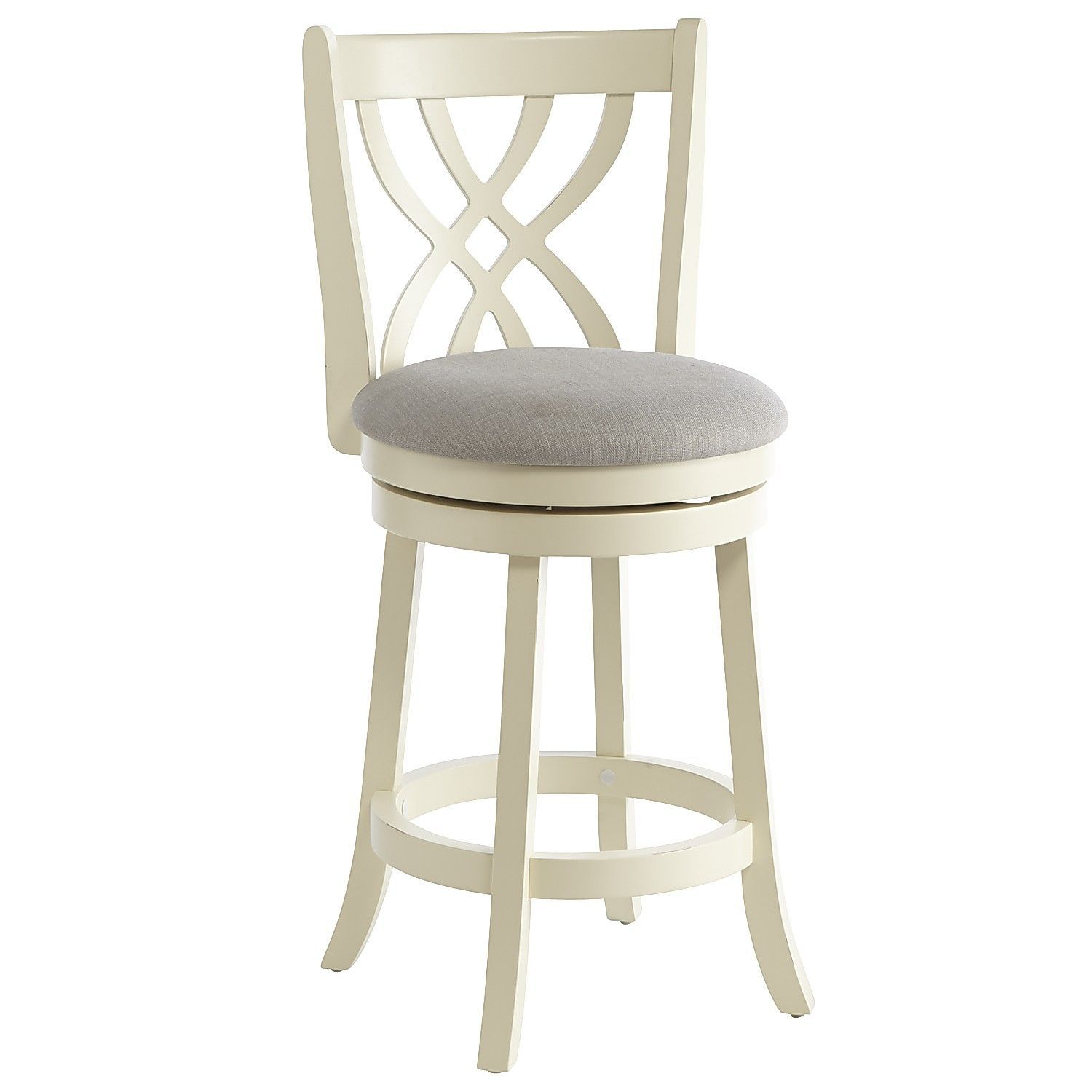 Holbrook White Swivel Counter Stool Chairs Gt Folding