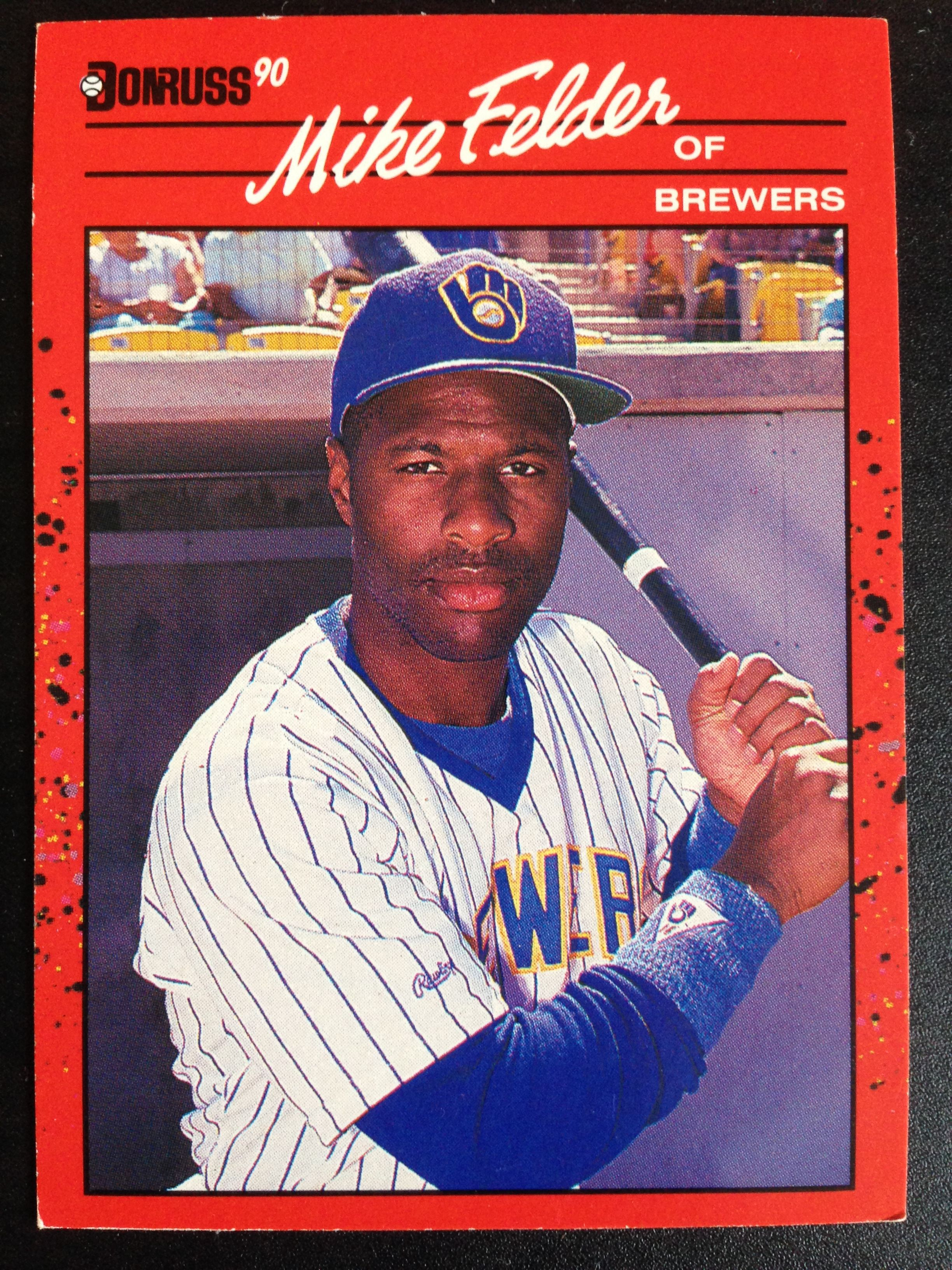 1894b09b4e 1989 Donruss Michael Otis Mike Felder #609 Baseball Card Collector Vintage