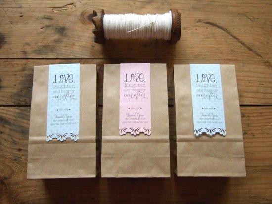 Wedding Favour Bag Labels