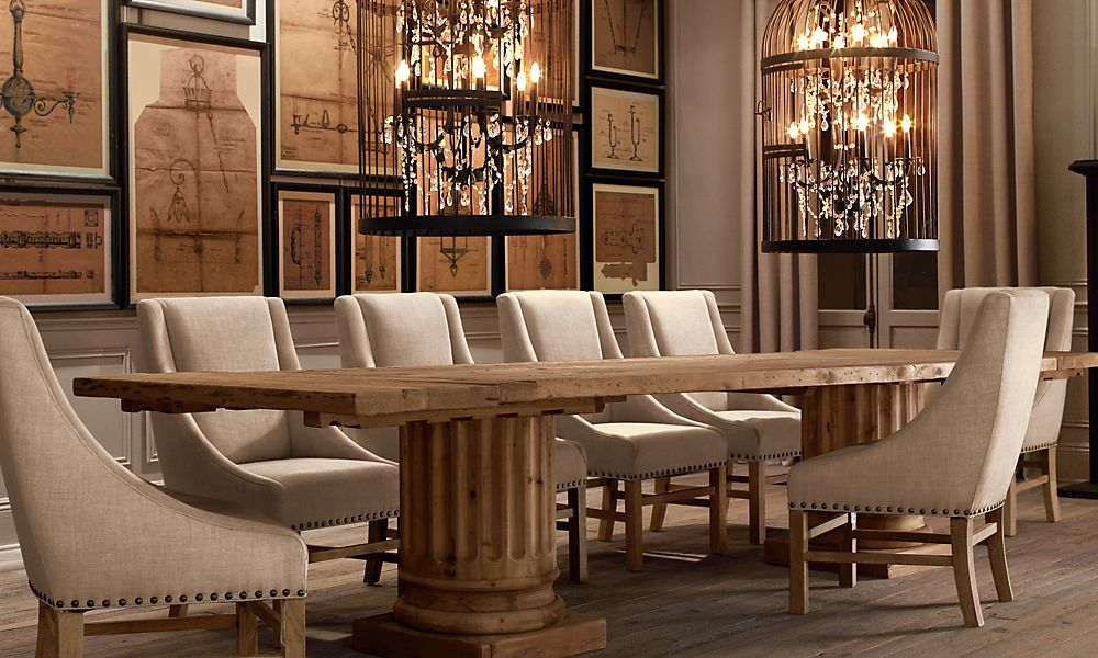 Restoration Hardware   New Birdcage Chandeliers In A Room   Wow!