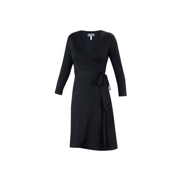Women's Ibex Ferryn Dress - Black ($160) ❤ liked on Polyvore featuring dresses, black, black day dress, kohl dresses, black dress, wrap dress and wool dress