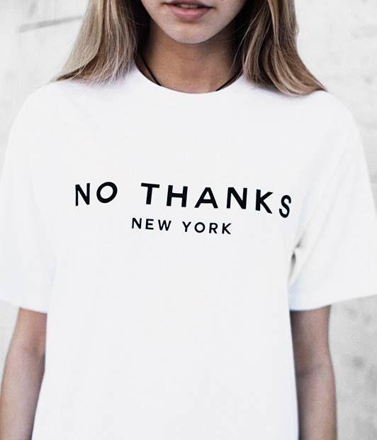 'No Thanks New York'. Hier entdecken und kaufen: http://sturbock.me/wDr