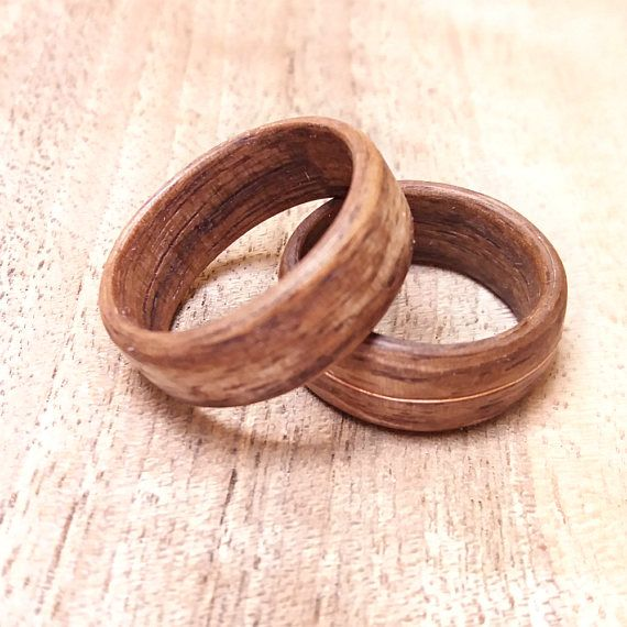 Wooden Wedding Bands Rings Alternative Wedding Band Set Wooden