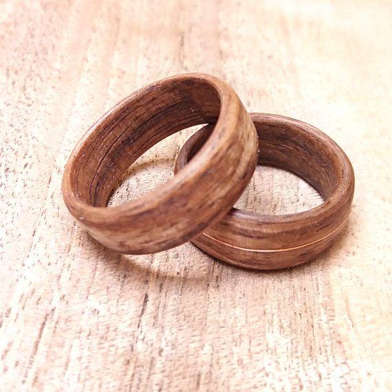 Wooden Wedding Bands Rings Alternative Wedding Band Set Wooden