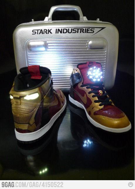 meet bc43f 9d821 Iron Man Nike Dunk. Awesome
