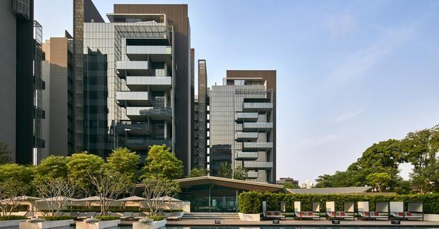 Alternating Balcony Double Height Spaces Leedon Residence Singapore Architecture Scda Architecture Residential Building Design Singapore Architecture