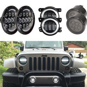 7 Inch Cree Led Headlight Indicator Turn Light Fog Light For Jeep
