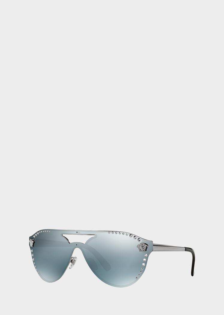 aa8e17e6291f Versace Gunmetal Glam Medusa Sunglasses for Men